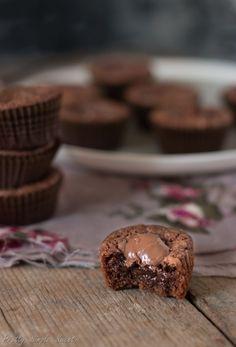 Quick 4-Ingredient Fudgy Nutella Muffins