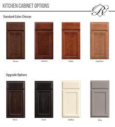 Regency Homebuilders Cabinet Color Options, Merrilat Cabinets