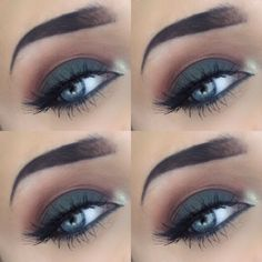 | Eye makeup, eye shadow, makeup, smokey eye, autumn, fall, look, inspired, anastasia beverly hills, subculture, subculture palette, modern renaissance, lashes, false eyelashes, sultry, blue eyes, green eyes, brows |