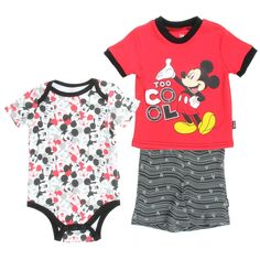 Another great find on Red Mickey Mouse Boys Three-Piece Layette Set - Infant Mickey Mouse Nursery, Mickey Mouse Outfit, Disney Mickey Mouse, Disney Baby Clothes, Baby Disney, Baby Boy Outfits, Kids Outfits, Baby Mouse, Free Clothes
