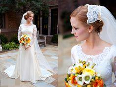 beautiful long sleeved wedding dress