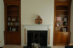 Custom Fireplace Bookcases and Mantel