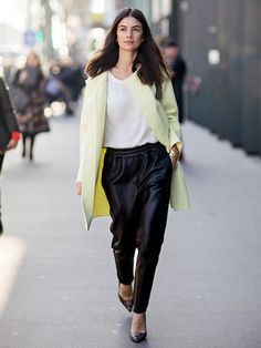 Street Style Crush: Leila Yavari via @Who What Wear