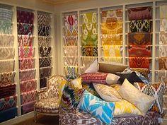Colorful Brunschwig & Fils silk ikats