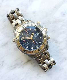 Rare Titanium Rose Gold Tantalum Omega Seamaster Professional 300m Diver Chronograph | Vintage Portfolio Omega Seamaster Professional, Vintage Omega, Metal Bracelets, 18k Rose Gold, Chronograph, Bracelet Watch, Watches, Accessories, Wristwatches