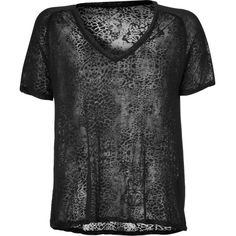 ZADIG & VOLTAIRE Burn-Out T-Shirt ($77) ❤ liked on Polyvore featuring tops, t-shirts, shirts, skull t shirts, v neck tee, print t shirts, raglan tee and tee-shirt