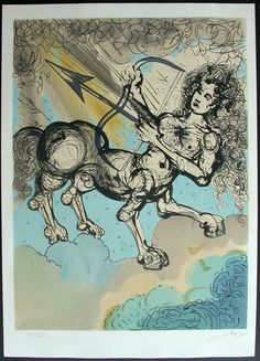 Sagittarius, Dali, Twelve Signs of the Zodiac - 1967