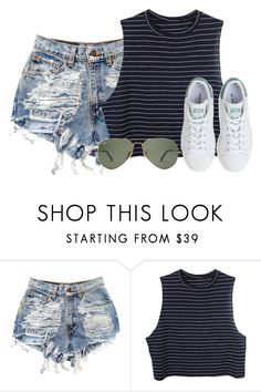 """""""where can I go?"""" by adele-adik ❤ liked on Polyvore featuring Levi's and adidas"""