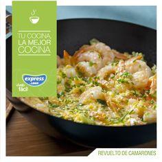 Revuelto de camarones. #Recetario #Receta #RecetarioExpress #Lider #Food #Foodporn #Seafood #Shrimp