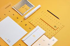 Identity for Branch Creative by Noeeko | stationery, yellow, brand, wordsearch
