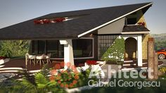 Casa cu etaj 54 | Proiecte de case personalizate | Arhitect Gabriel Georgescu & Echipa House Plans Mansion, House Roof, Facade House, House 2, Modern House Facades, Modern Architecture, Design Case, Simple House, Bungalow