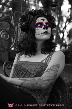 Day of the Dead Angel - Fine Art Photography Day of the Dead Decor Sugar Skull Black and White Wall Decoration Limited Edition 8 x 10 Print. $42.00, via Etsy.