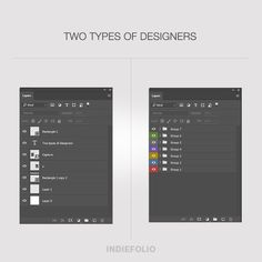 To be organised or not to be organised with layers, that is the question. #twotypesofdesigners #designers #peoplewhodesign