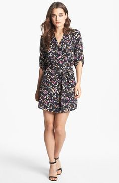 Collective Concepts Roll Sleeve Shirtdress available at #Nordstrom - zoe $88