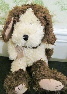 Boyds Bear Dog Collier P Hydrant Tag Collar Jointed Retired Plush Stuffed Animal #AllOccasion