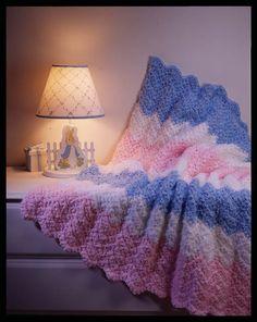 Crochet Baby Ripple Blanket  Skill / Level: Easy / Beginner  FREE