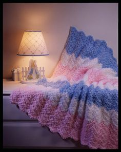 Crochet Baby Ripple Blanket  Skill / Level: Easy / Beginner  FREE