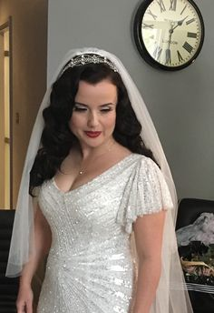 One of our beautiful brides Hair & makeup Lipstick and Curls http://www.lipstickandcurls.net/services/bridal-styling/
