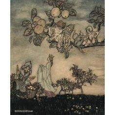 Dish of Apples 1921 Ladys Apple Canvas Art - A Rackham (18 x 24)