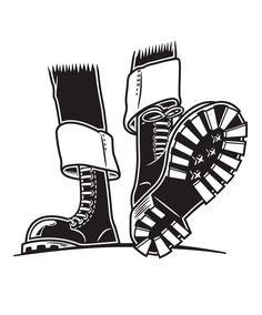 Skinhead moonstomp Skinhead Boots, Skinhead Girl, Skinhead Fashion, Skin Head, Music Logo, Punk, Joko, Motif Design, Poster Ideas