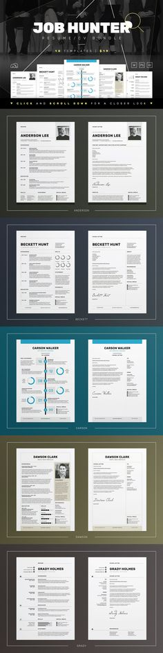 Amanda Resume\/CV Template Word Photoshop InDesign Resume - product comparison template word