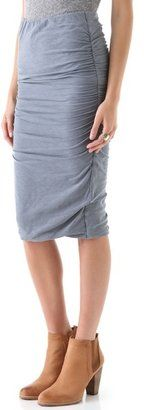 ShopStyle: James perse Ruched Pencil Skirt