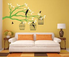 bird cage wall cling