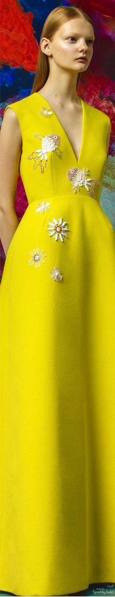 Delpozo Resort 2017 - bright yellow + embellished
