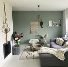 Green Family Rooms, Living Room Green, Living Room Colors, Home Living Room, Apartment Living, Living Room Designs, Living Spaces, Deco App, Living Room Goals