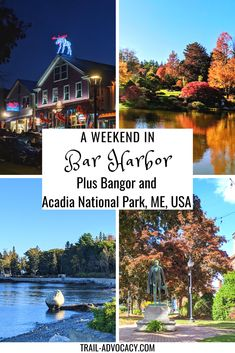 Bar Harbor, Maine is an adorable town with quick and easy access to Acadia National Park. Here are some great ideas of what to do during a long weekend in Maine, including Cadillac Mountain, Bar Island, and so much more! #maine #barharbor #travel #hiking #mountains #weekendtrip #falltrip #roadtrip #cadillacmountain #barisland Usa Travel Guide, Travel Usa, Acadia National Park, National Parks, North America Destinations, Travel Destinations, Usa Cities, Weekend Trips, Long Weekend