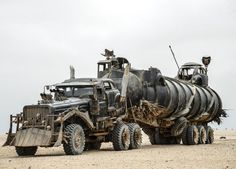 A combination of a Czechoslovakian Tatra T815 and a Chevrolet Fleetmaster, the War Rig spends part of the movie hauling along a fuel pod. Furiosa has the engines set up with a unique set of kill switches to prevent just anyone from rolling away with it.