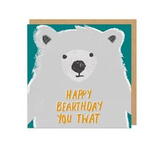 Twat Bear Greeting Card