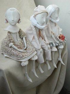 """""""Happy Piero"""" by Inga Ivashchenko - Handmade dolls - whimsy (herminehesse) Clay Dolls, Doll Toys, Art Dolls, Dolls Dolls, Paperclay, Wooden Dolls, Doll Face, Clay Art, Beautiful Dolls"""