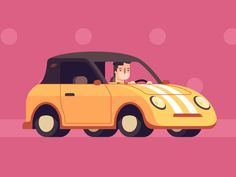Dribbble - the car in pink by vladimir marchukov car animation, characte Boat Cartoon, Cartoon Gifs, Animated Cartoons, Cool Cartoons, Animated Gif, Car Animation, 2d Character Animation, Animation Reference, Motion Design