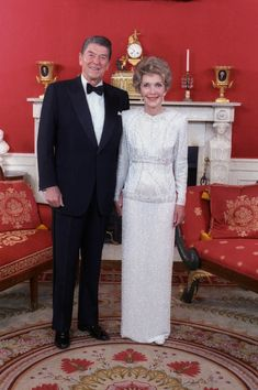 (one of) Nancy Reagan's Inaugural Gown  *** she did not donate this one to the Smithsonian.