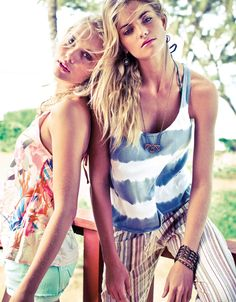 Summer 2012 retro prints and flowing fabrics. Care-free gypsy at heart. O'Neill Girls. #ONeillGirls