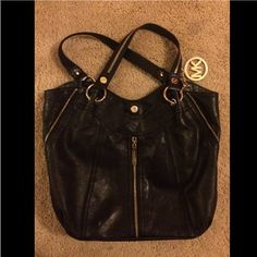 Black Michaels Kors Bag Black leather with gold hardware. MICHAEL Michael Kors Bags Hobos