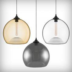 Glass Pendant lights + Edison bulbs cultfurniture.com