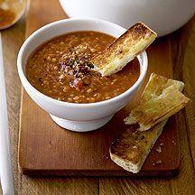 Soupe de tomates et lentilles