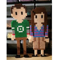 Sheldon and Amy - The Big Bang Theory perler beads by Daphne Willis