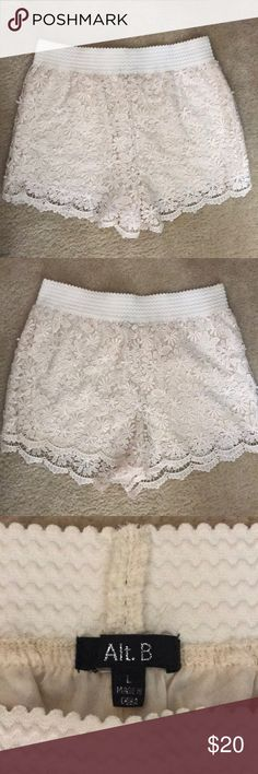 Scallop Dressy Shorts Brand new!! Bought them last summer but never wore them. Adorable and very cute! Size L. alt. B Shorts