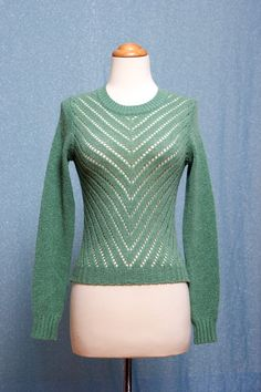 minty vintage sweater