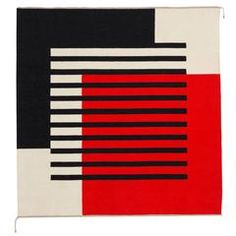 Ruth Malinowski Large Textile Art, Signed, 1990 - The Exchange Int Abstract Geometric Art, Geometric Wall, Geometric Shapes, Bauhaus Textiles, Op Art, Vintage Signs, Textile Art, Graphic Art, Design Art