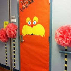 Lorax-- Dr. Seuss door decorating contest winner made with ...