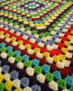 granny blanket - No pattern, but it is just one BIG granny square.