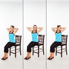 Seated Sprinkler - Abs Workout: Stand Up for a Flat Stomach! - Shape Magazine - Page 7 Flat Abs, Flat Stomach, Flat Belly, Fitness Diet, Health Fitness, Fitness Motivation, Fitness Fun, Postural, Shape Magazine