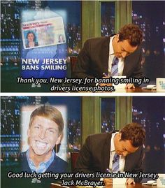 Jimmy Fallon - Thank You Notes -New Jersey banning smiling in driver's license photos-