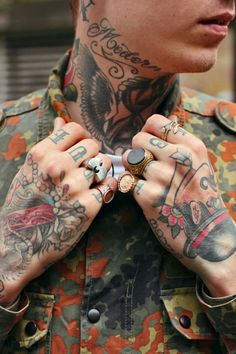 Men with neck and hand tattoos....just a few of my favorite things