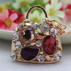3D-Höhle-Entwurfs-Geldbeutel-Geldbeutel-Handtaschen keychain Art und Weise Kristall Schlüsselanhänger Ring-Geschenk-in Schlüsselanhänger von Schmuck auf Aliexpress.com | Alibaba Group