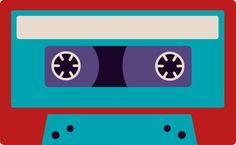 Colorful Retro Cassette Tape